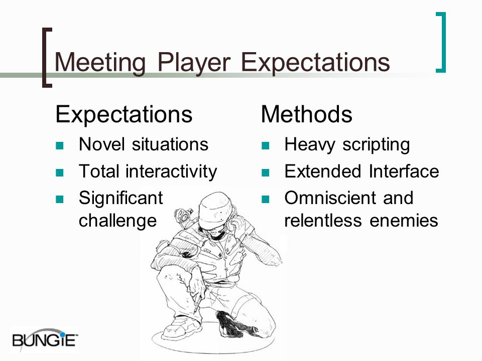 Meeting Player Expectations