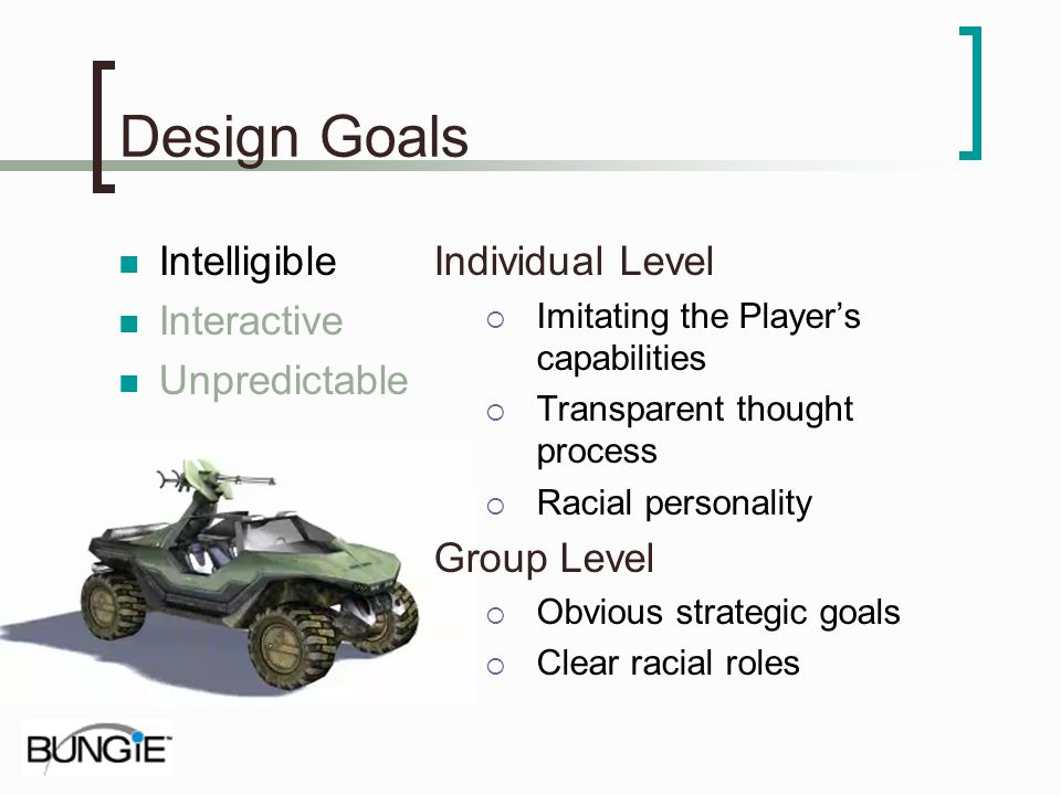 Design Goals Intelligible Interactive Unpredictable Individual Level