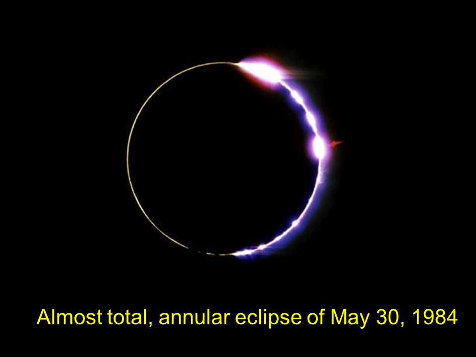 Almost total, annular eclipse of May 30, 1984