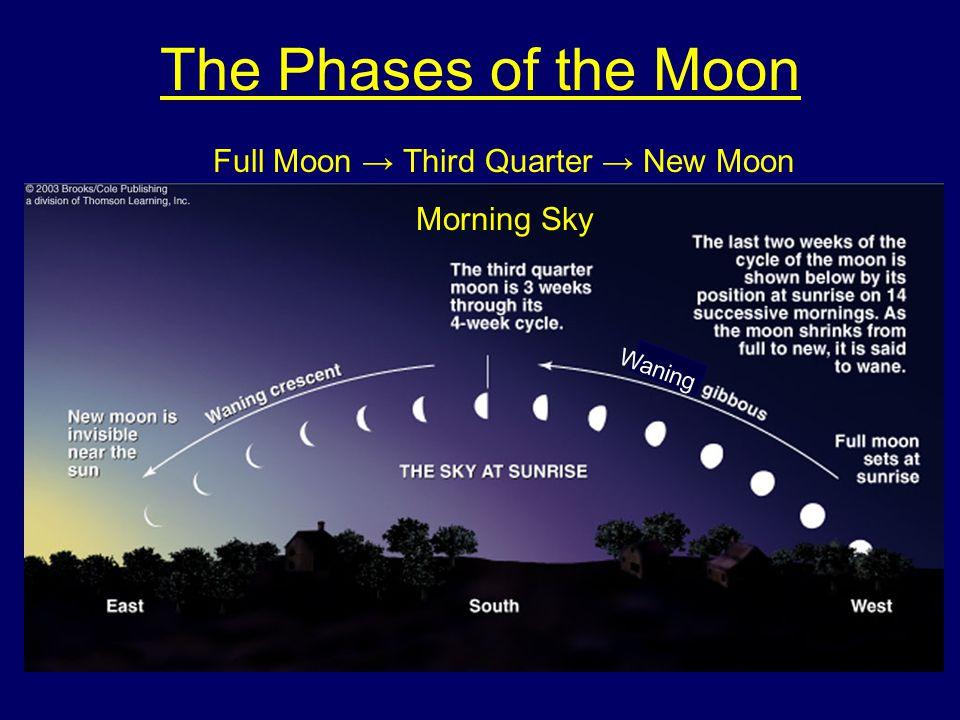 Full Moon → Third Quarter → New Moon