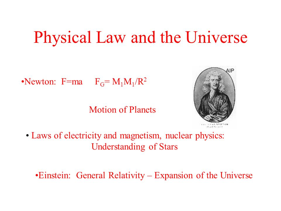 Physical Law and the Universe
