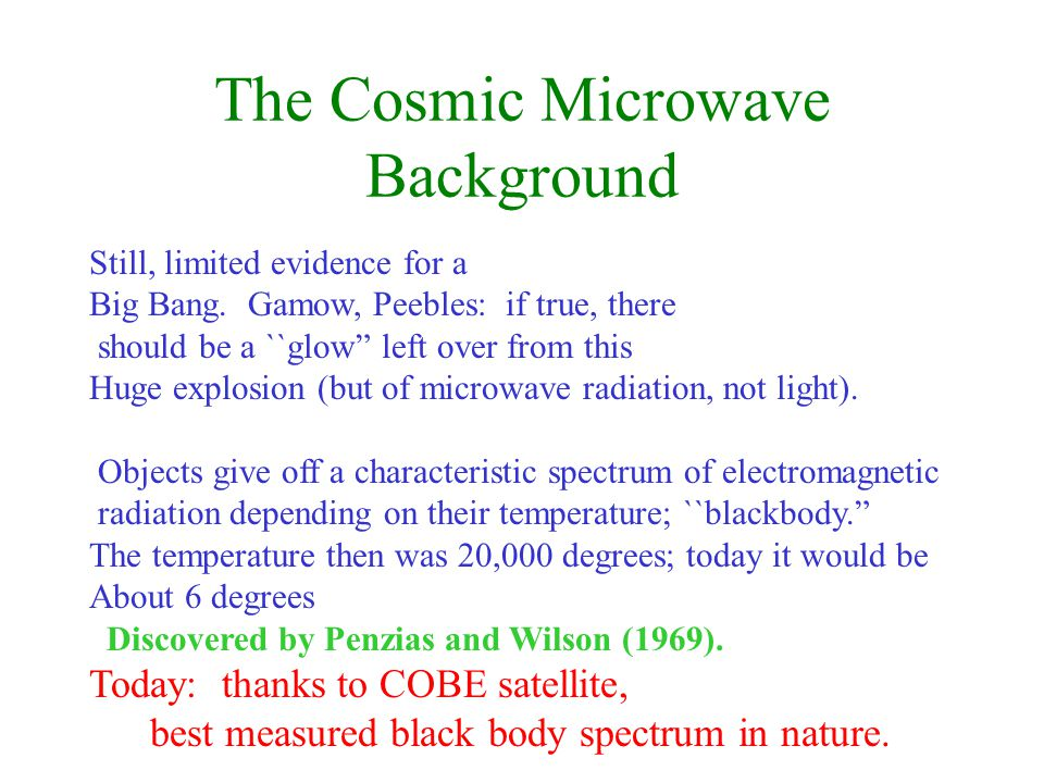 The Cosmic Microwave Background