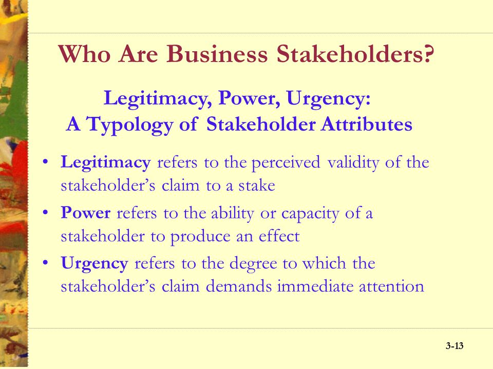 Who Are Business Stakeholders