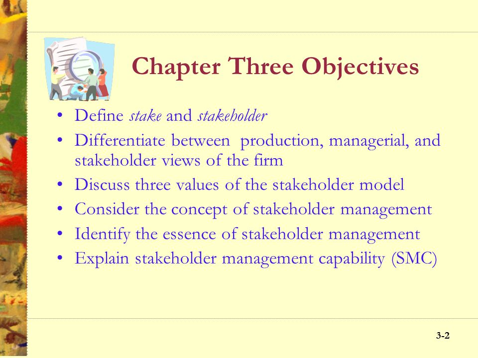 Chapter Three Objectives