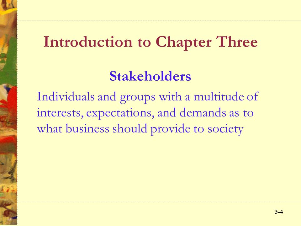 Introduction to Chapter Three