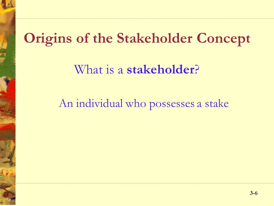 Origins of the Stakeholder Concept