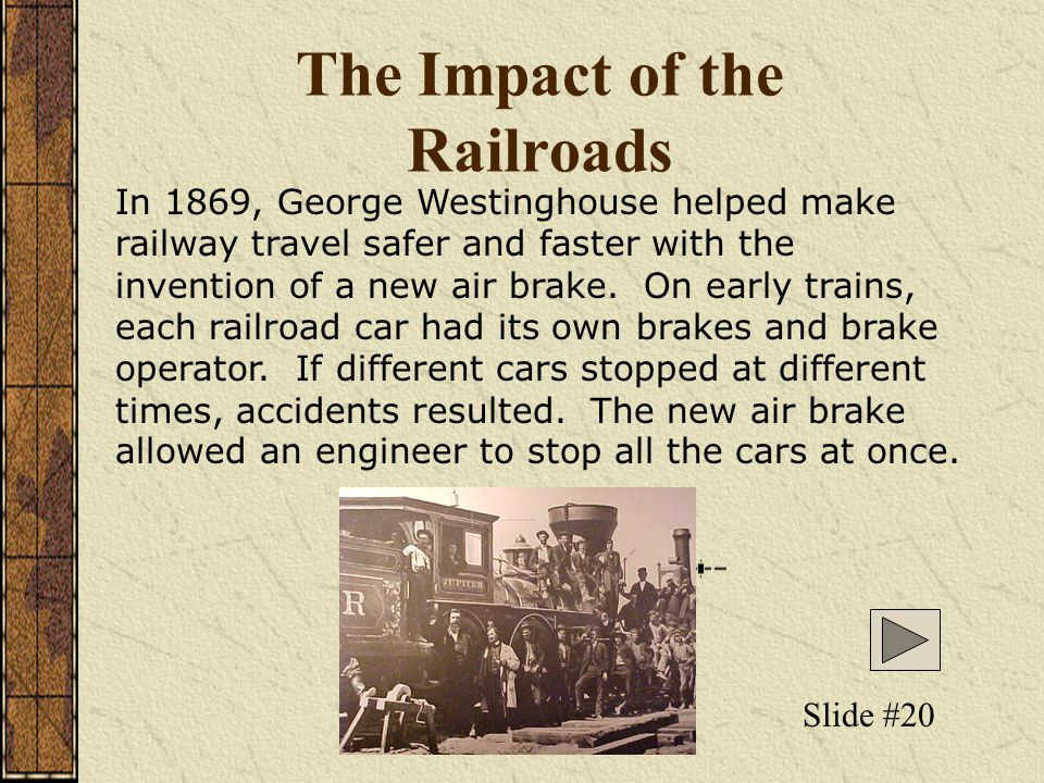 The Impact of the Railroads