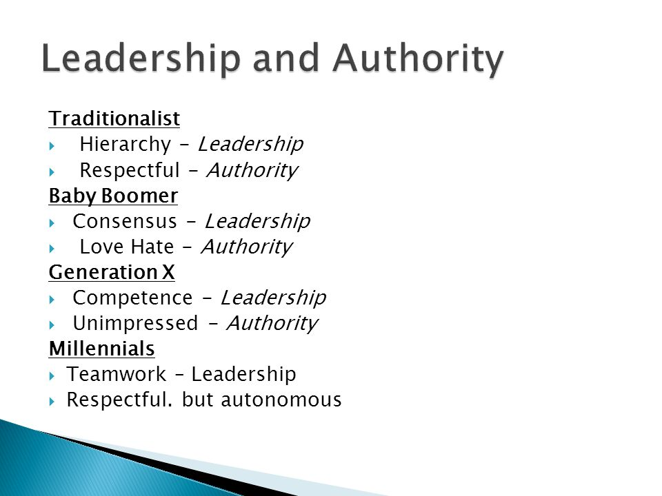 Leadership and Authority