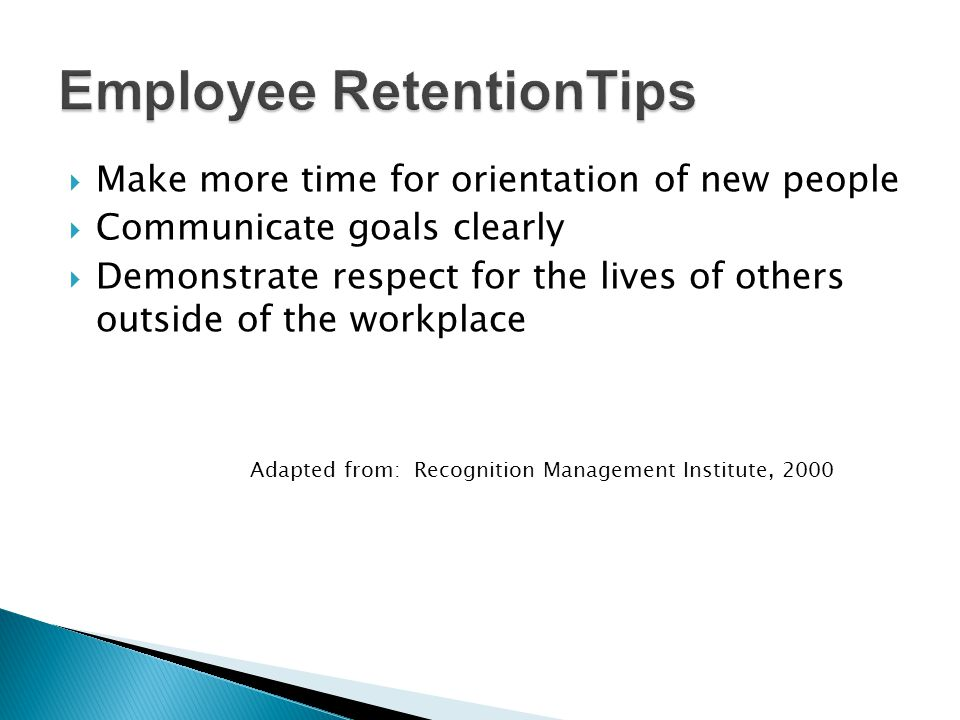Employee RetentionTips