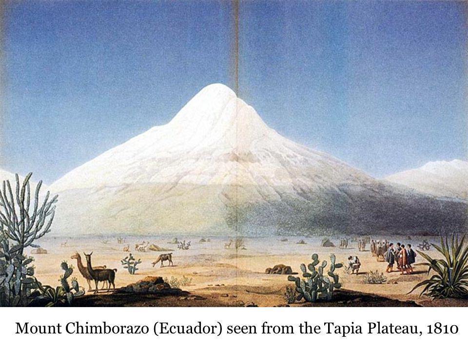 Mount Chimborazo (Ecuador) seen from the Tapia Plateau, 1810