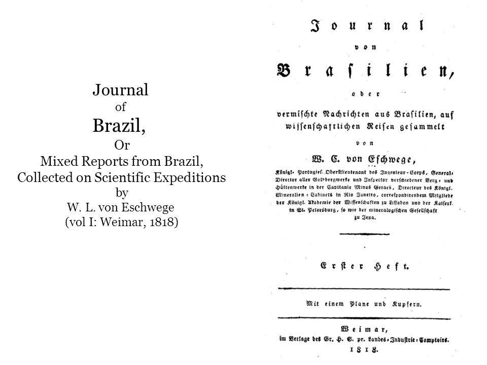 Brazil, Journal Or Mixed Reports from Brazil,