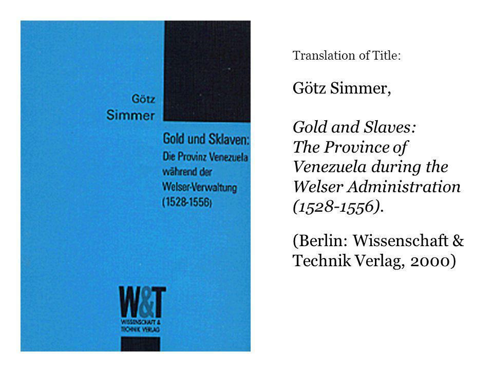 (Berlin: Wissenschaft & Technik Verlag, 2000)
