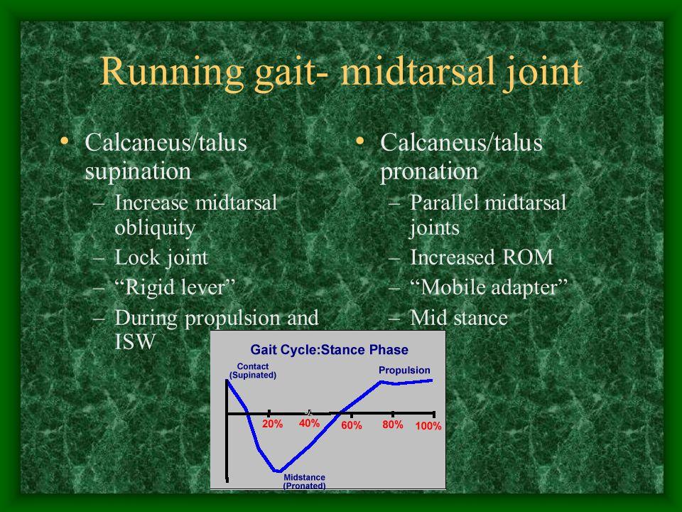 Running gait- midtarsal joint