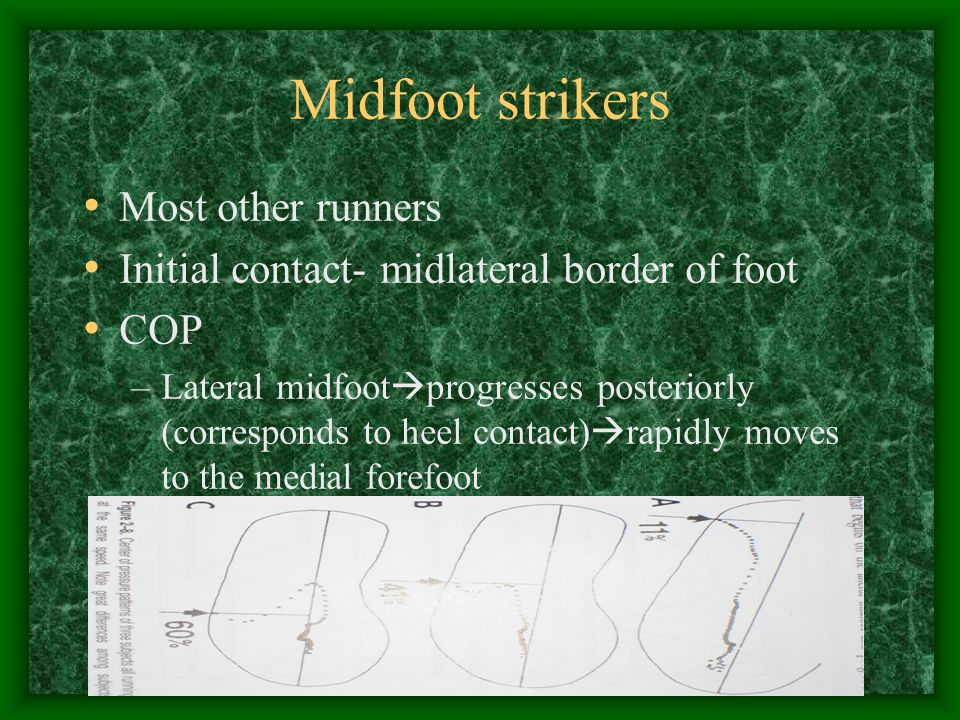 Midfoot strikers Most other runners