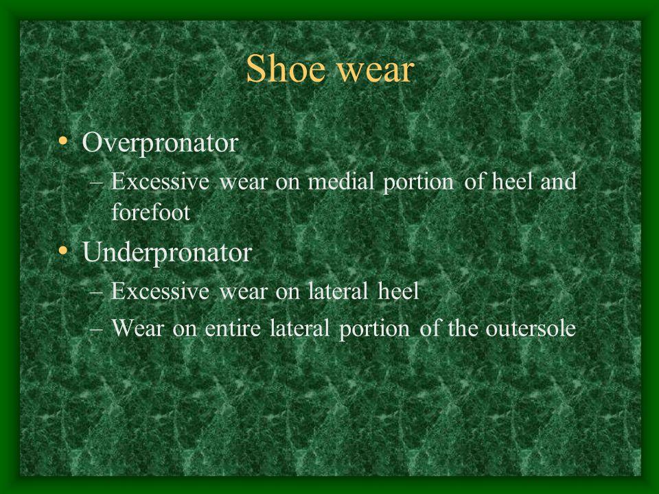 Shoe wear Overpronator Underpronator