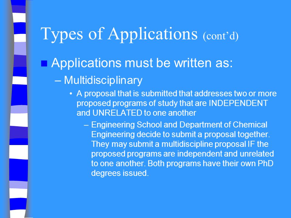 Types of Applications (cont'd)