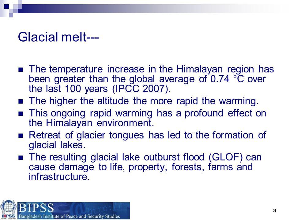 Glacial melt---