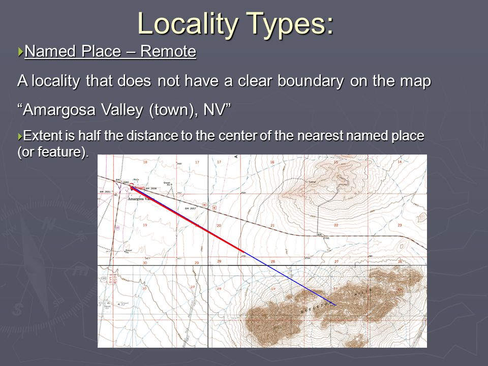 Locality Types: Named Place – Remote