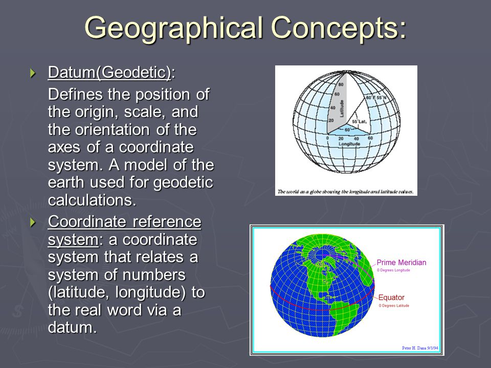 Geographical Concepts: