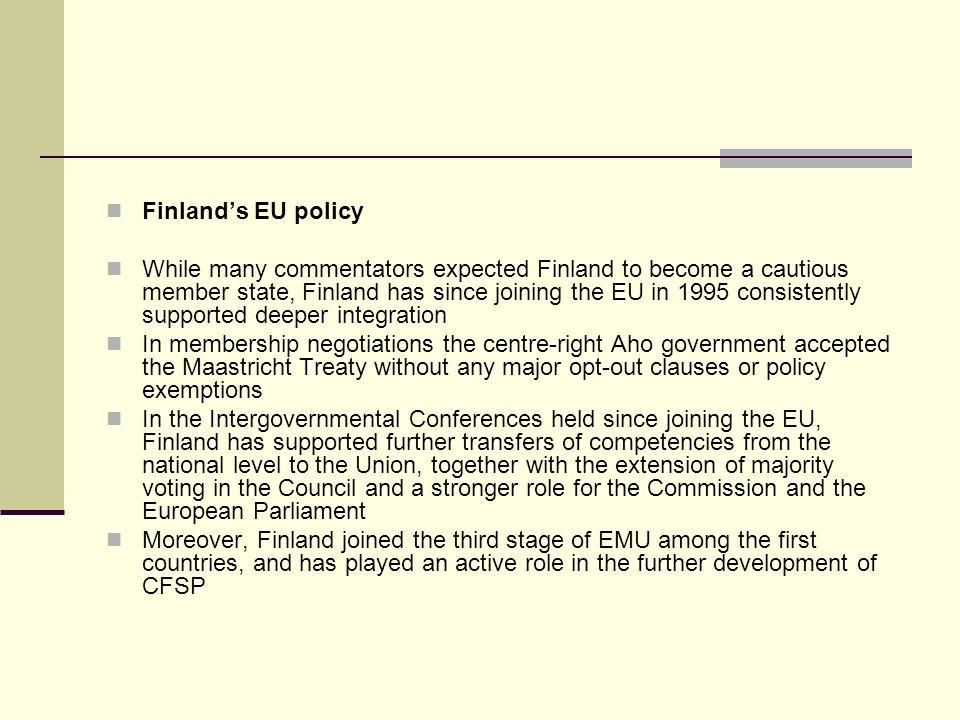 Finland's EU policy
