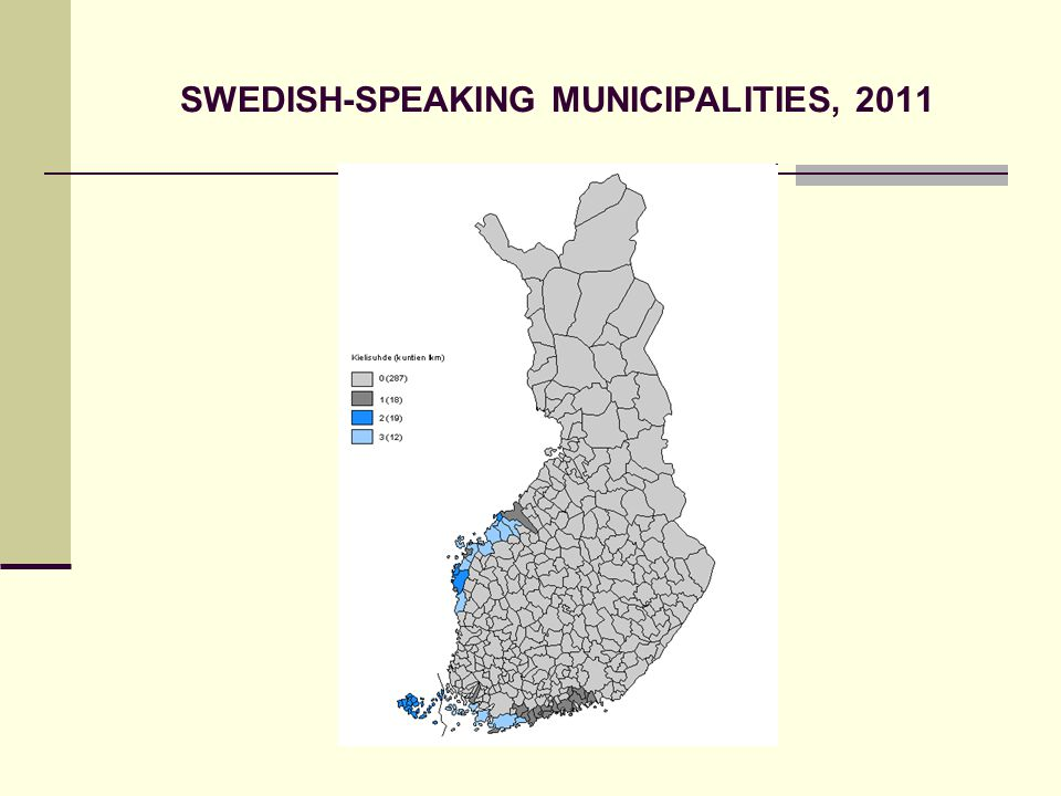 SWEDISH-SPEAKING MUNICIPALITIES, 2011