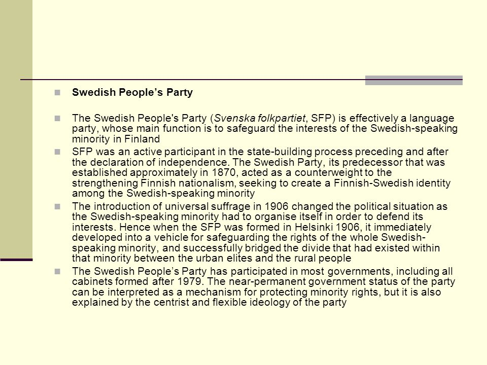 Swedish People's Party