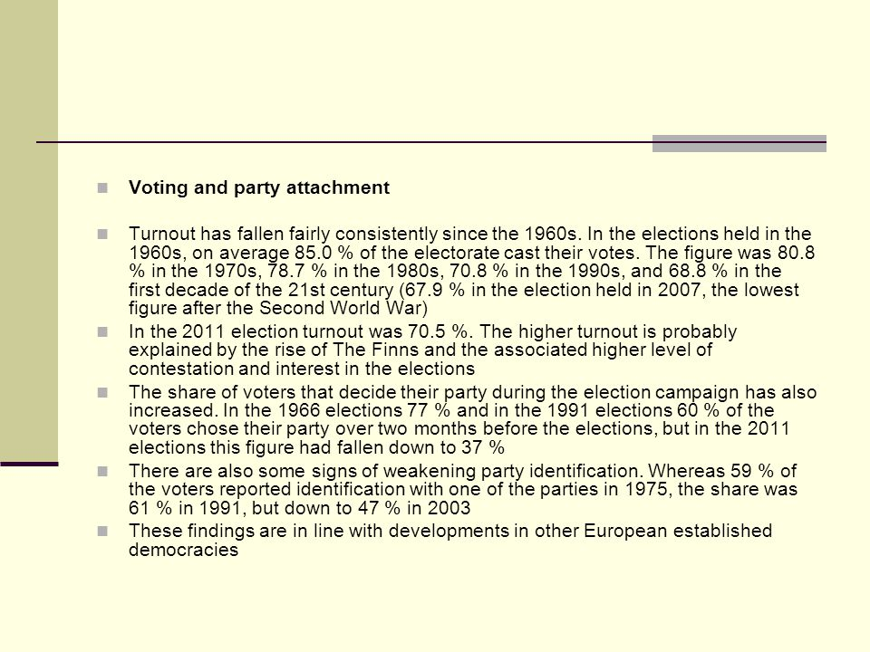 Voting and party attachment