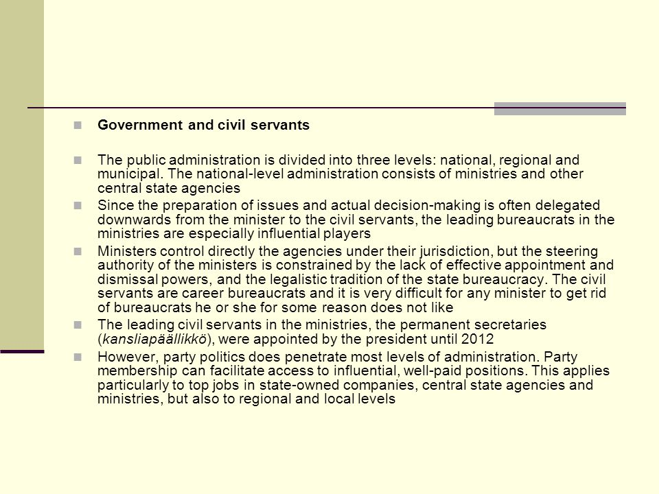 Government and civil servants