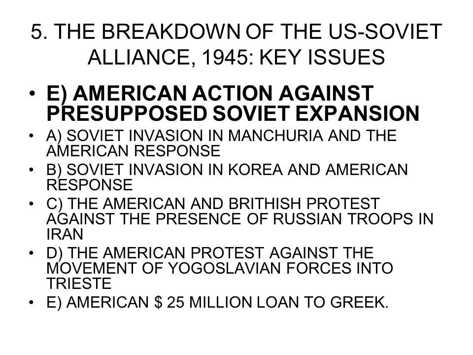 an analysis of the continued tension and suspicion between the us and ussr Ap® united states history 2006 free-response questions analyze developments from 1941 to 1949 that increased suspicion and tension between the united states.