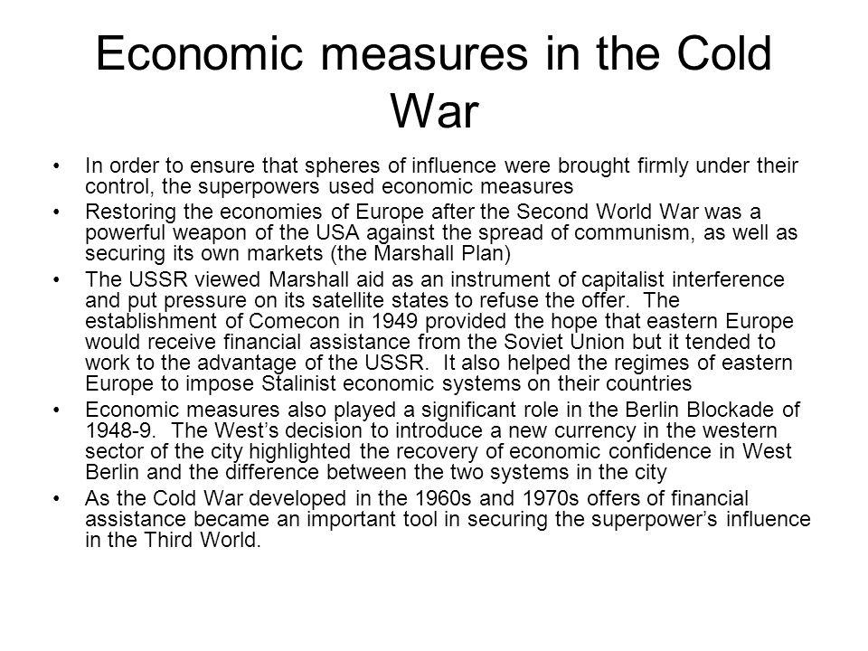 Economic measures in the Cold War