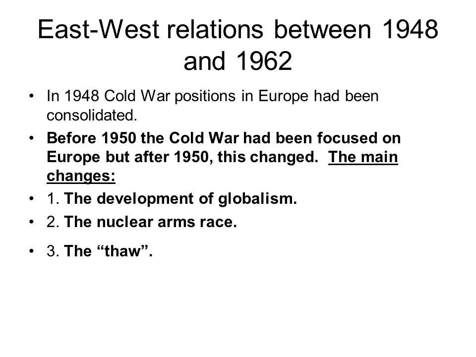 East-West relations between 1948 and 1962