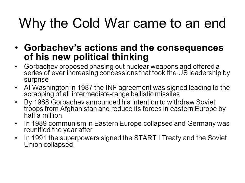 Why the Cold War came to an end
