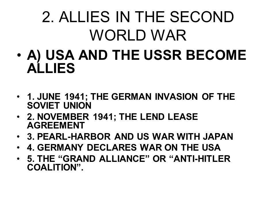2. ALLIES IN THE SECOND WORLD WAR