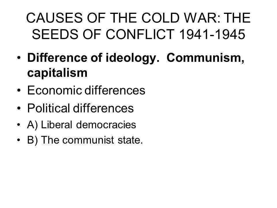 an analysis of ideology conflicts between capitalism and communism Connection between modern capitalism and specific historical circumstances weber, writing as an historical sociologist our group's comment belies the reality that marx's analysis of capitalism is extremely historical in nature he discusses the.