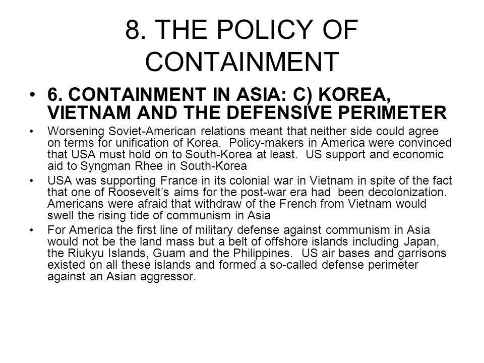 usa policy of containment Click here 👆 to get an answer to your question ️ the united states' policy of containment after world war ii was intended to prevent communism from spreading.