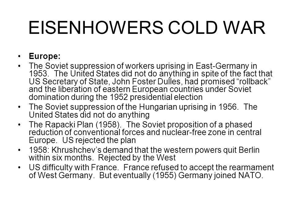 EISENHOWERS COLD WAR Europe: