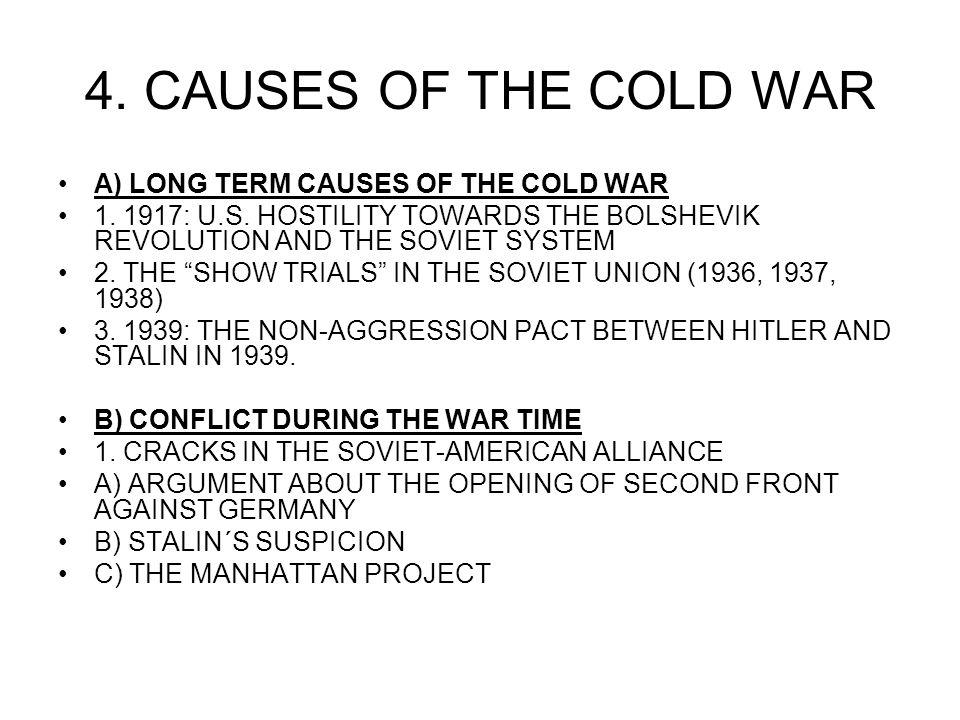 Reasons for the cold war