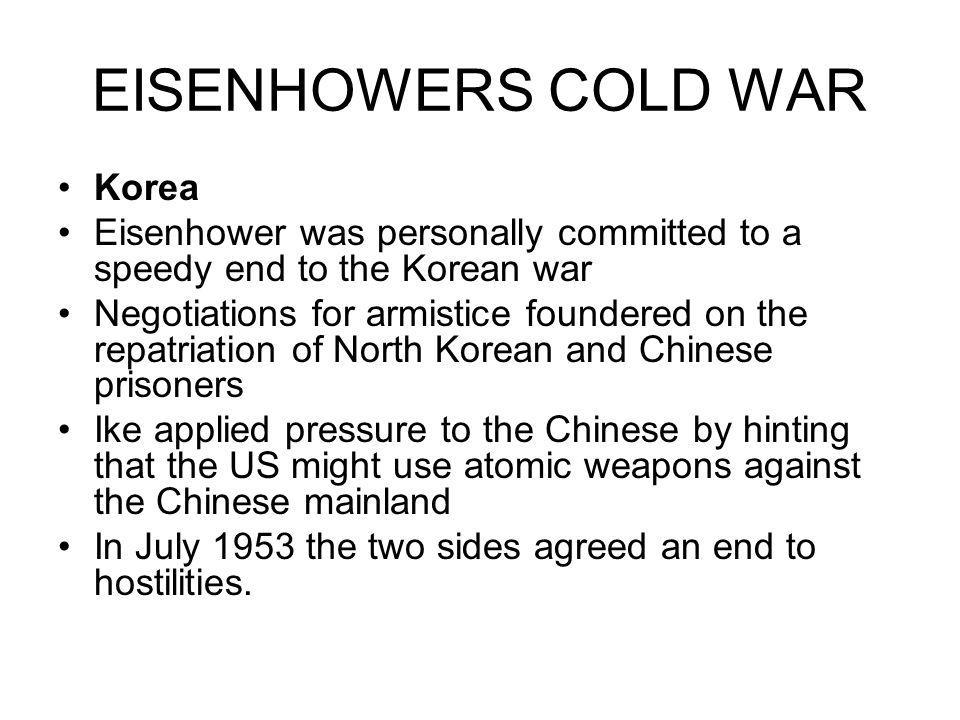 EISENHOWERS COLD WAR Korea