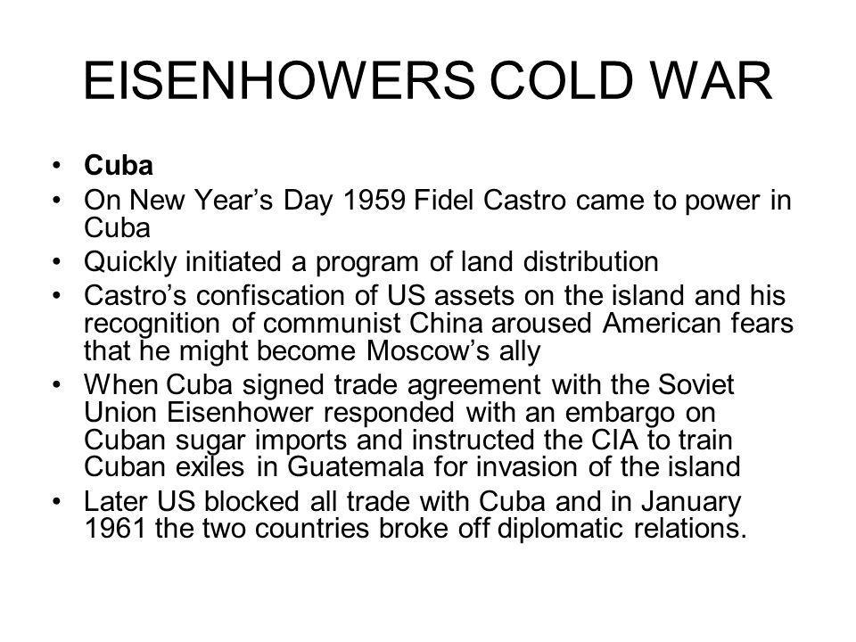 EISENHOWERS COLD WAR Cuba