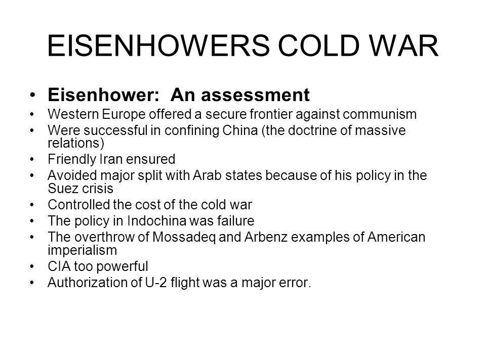 EISENHOWERS COLD WAR Eisenhower: An assessment