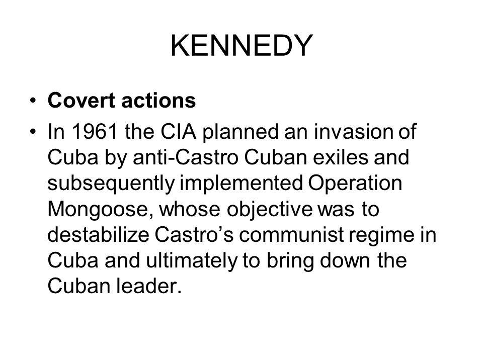 KENNEDY Covert actions