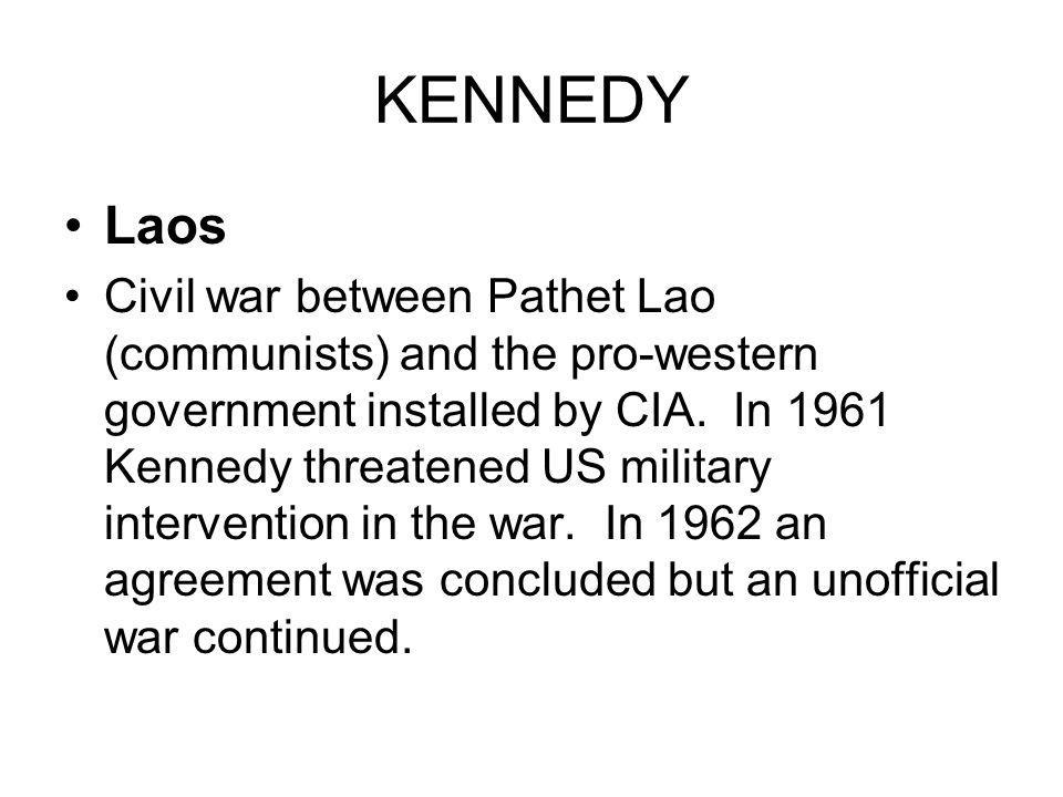KENNEDY Laos.