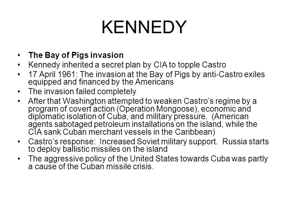 causes and effects of the bay of pigs invasion Declassified, previously top secret cia documents reveal that during the bay of  pigs invasion a cia operative fired at a friendly pilot, reports.