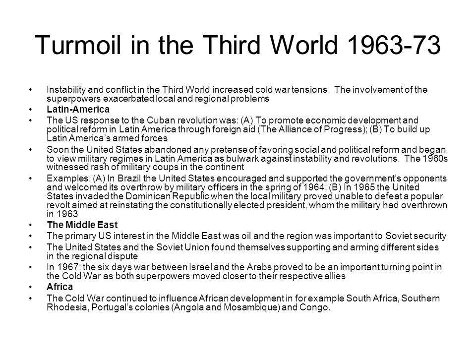 Turmoil in the Third World 1963-73