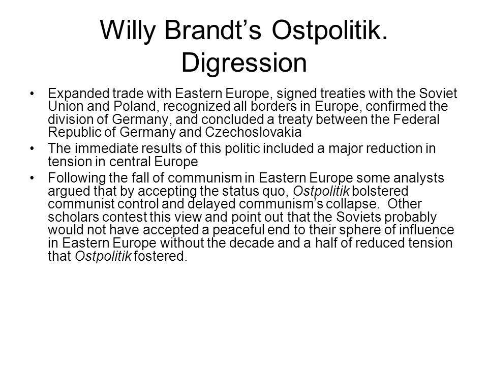 Willy Brandt's Ostpolitik. Digression
