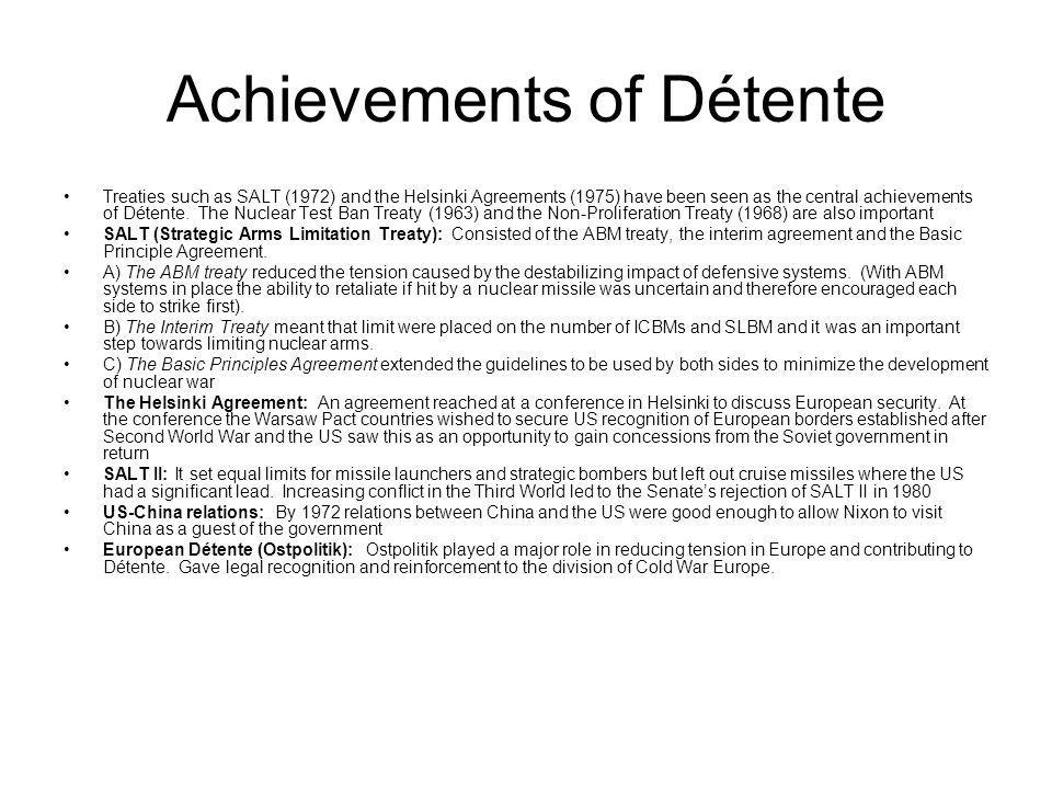 Achievements of Détente