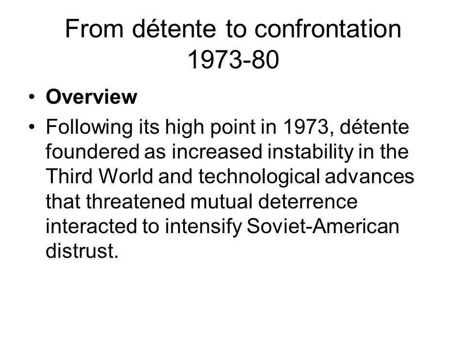 From détente to confrontation 1973-80