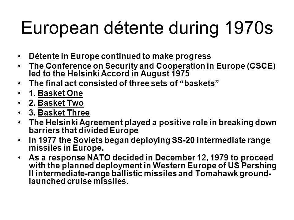 European détente during 1970s