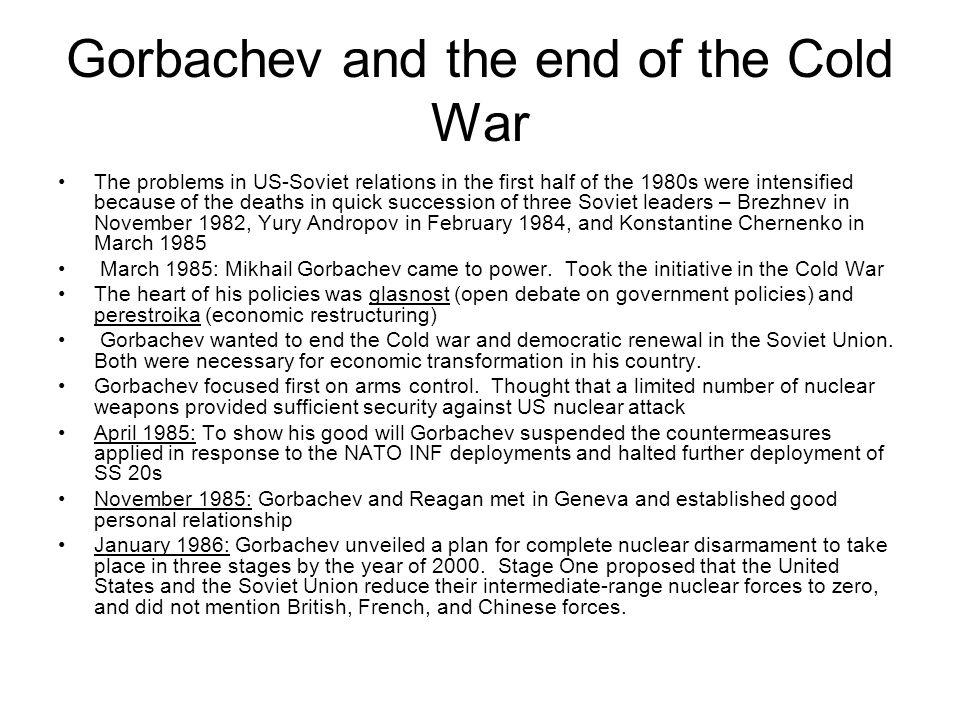 Gorbachev and the end of the Cold War