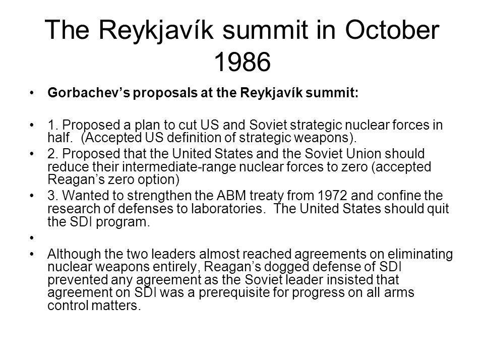 The Reykjavík summit in October 1986
